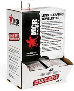 MCR Safety LCT Spec-Saver Lens Cleaning Towelettes, 100 Wipes Per Box