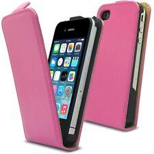 Cover Custodia Pelle Completo Fiore da valvola Rosa per iPhone 4S/4 + Pellicola