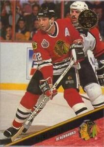 #142 Brent Sutter - Chicago Blackhawks - 1993-94 Leaf Hockey