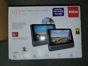 """RCA DRP29101 Dual 10"""" Tablet & DVD Player Combo - 2 Tablet/1 DVD Player Android"""