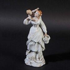 Sitzendorf Frau Kind Korb MUSTER Porzellan Thüringen Figur porcelain figurine