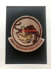 Original seldom seen USAF 489th Reconnaissance Squadron embroidered patch desert
