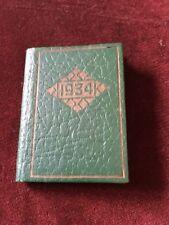 Vintage Keystone 1934 Engagement Calendar And Stamp Case Fine Leather Booklet
