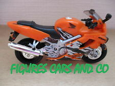 MOTO 1/18  HONDA CBR 600 F4 2001 ORANGE HOT WHEELS