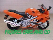 MOTO 1/18  HONDA CBR 600 F4 2001 ORANGE HOT WHEELS