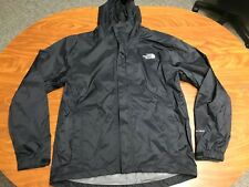 MENS THE NORTH FACE BLACK FULL ZIP HOODED HYVENT LIGHTWEIGHT RAIN JACKET SMALL
