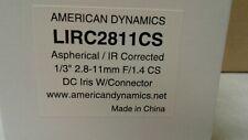 (8) American Dynamics AD / Tyco Security - Surveillance Camera Lens LIRC2811CS