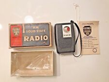 VINTAGE TG & Y AM SOLID STATE POCKET TRANSISTOR RADIO ~ ORIGINAL BOX