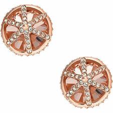 Orecchini di bigiotteria bottoni rose in acciaio
