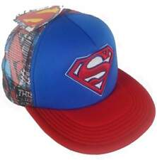 DC Comics SUPERMAN Mesh SnapBack Hat Cap Adjustable NEW With TAGS. Flat brim SK8