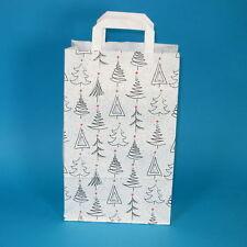 250 Papiertragetaschen Papiertüten Weihnachten Weihnachtsbäumchen 22+10x36cm
