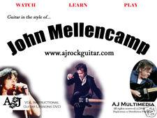 Custom Guitar Lessons, Learn John Mellencamp - Dvd Video