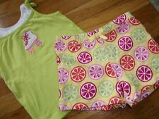 GYMBOREE 2 PC TOP SIZE 6 7 YEARS OUTFIT SHIRT SHORTS CITRUS COOLER SPRING SUMMER