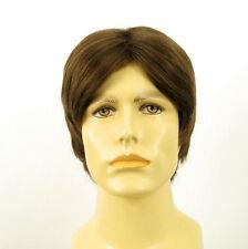 Perruque homme 100% cheveux naturel châtain clair ref MARTIN 8