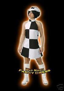 FANCY DRESS COSTUME * GO GO GIRL 60s disco lady 16