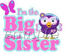 IRON ON TRANSFER BIG SISTER HOOT OWL BUTTERFLY 16x13cm hootabelle
