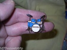 5pc drum kit pin // Made of Metal, Super detail... Blue only