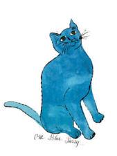Andy WARHOL - One Blue Pussy Katze Kunstdruck Poster Plakat Bild NEU