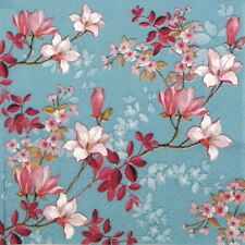 4x Paper Napkins for Decoupage Decopatch Craft - Magnolia