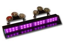 Purple Visor Light bar Deck Dash LED Funeral Emergency Warning Flashing Strobe