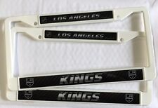 2 Los Angeles Kings WHITE License Plate Frame NEW Auto Truck FREE SHIP NHL