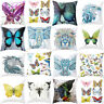 BG_ BL_ Coloured Drawing Butterfly Elephant Cushion Cover Pillow Cases Sofa Deco