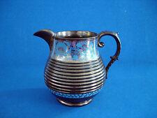 ANTIQUE BLUE & COPPER LUSTRE WARE PITCHER    c.1880's