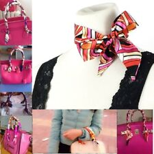 Satin Twilly Narrow Long Scarf, For Neck, Hair and Purse Handles