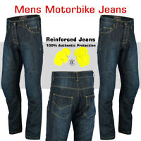 Men's Motorbike Motorcycle Trousers Stretch Denim Pants Jeans Protective Aramid