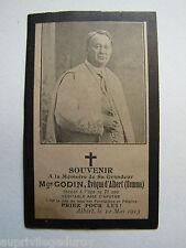 IMAGE d' AVIS MORTUAIRE : Monseigneur GODIN, ÉVÊQUE d'ALBERT (Somme), 1913.