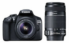 CANON EOS 1300D DSLR CAMERA DOUBLE ZOOM KIT(EF-S18-55 IS II +55-250 IS II)@WIFI