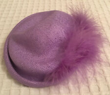 Vintage Herbert Johnson Lilac (Cocktail) Hat with Deeper Lilac Feather