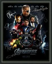AVENGERS CAST MOVIE POSTER 1  - A4 SIGNED AUTOGRAPHED PHOTO FREE POST