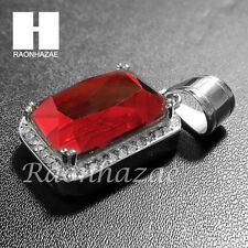 Mens Iced Out 316L Stainless steel Gold Silver Rich Gang Ruby Mini Pendant SS012