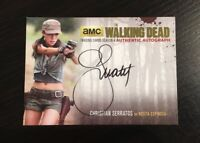 Walking Dead Season 4 Auto Autograph Card Christian Serratos Rosita CS2 GOLD 25