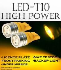 4 pc T10 Yellow High Power LED Plug & Play Easy Install Parking Light Bulbs E664