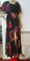NEW COAST FLORAL RUCHED DRESS SIZE UK 12 US 8 BLACK PINK  GREEN PRICED £129