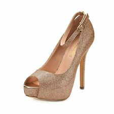 DREAM PAIRS Women's Swan-10 Champagne High Heel Plaform Dress Pump Shoes - 11 M