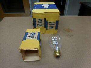 Pack of Six NOS GE 100 Watt 32 Volts Clear Incandescent Bulbs 100A21 Brass Base