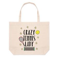 CRAZY TENIS Mujer Grande Playa Bolsa - Divertido Deporte Shopper Hombro