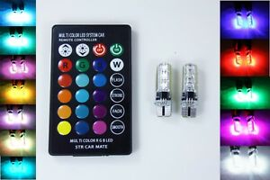 Multi Color LED Parkers with Remote Control for Citroen