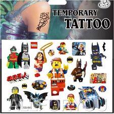 1x Lego Temporary Tattoo Sheet Children Kids Birthday Party Bag Filler