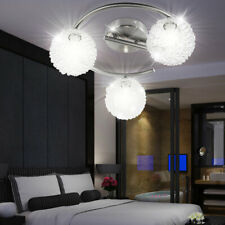 Luxus LED Decken Beleuchtung Rondell ALU Kugel Geflecht Wohn Zimmer Lampe rund