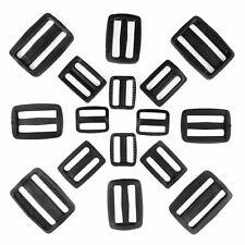 PLASTIC DELRIN 3 BAR SLIDES TRI GLIDE BUCKLES BLACK FOR WEBBING SIZE 20MM - 50MM