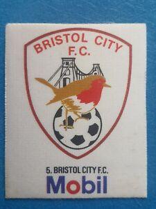 Mobil Football Club Badges Silk 1983 Bristol City