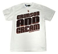 Mens Majestic NCAA Oklahoma Sooners Football Crimson & Cream Shirt New S, M