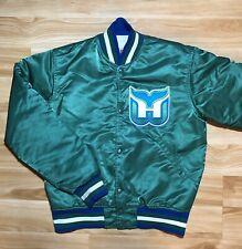 Vintage Hartford Whalers Satin STARTER jacket 70s 80s 90s Hockey NHL Small S