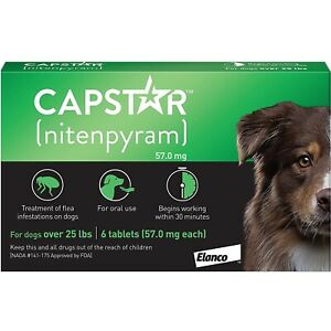 CAPSTAR 57 MG Treatment Flea For Dogs Large > 24.3lbs - 6 Compression Shirt