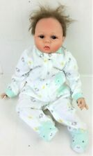 NPK Collection Reborn Baby Doll Girl Realistic Cloth Body Blue Eyes Silicone