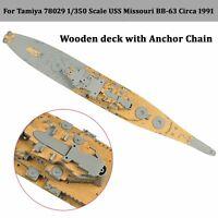 1/350 Wooden Deck Replace for Tamiya 78029 USS Missouri BB-63 Circa 1991 Model